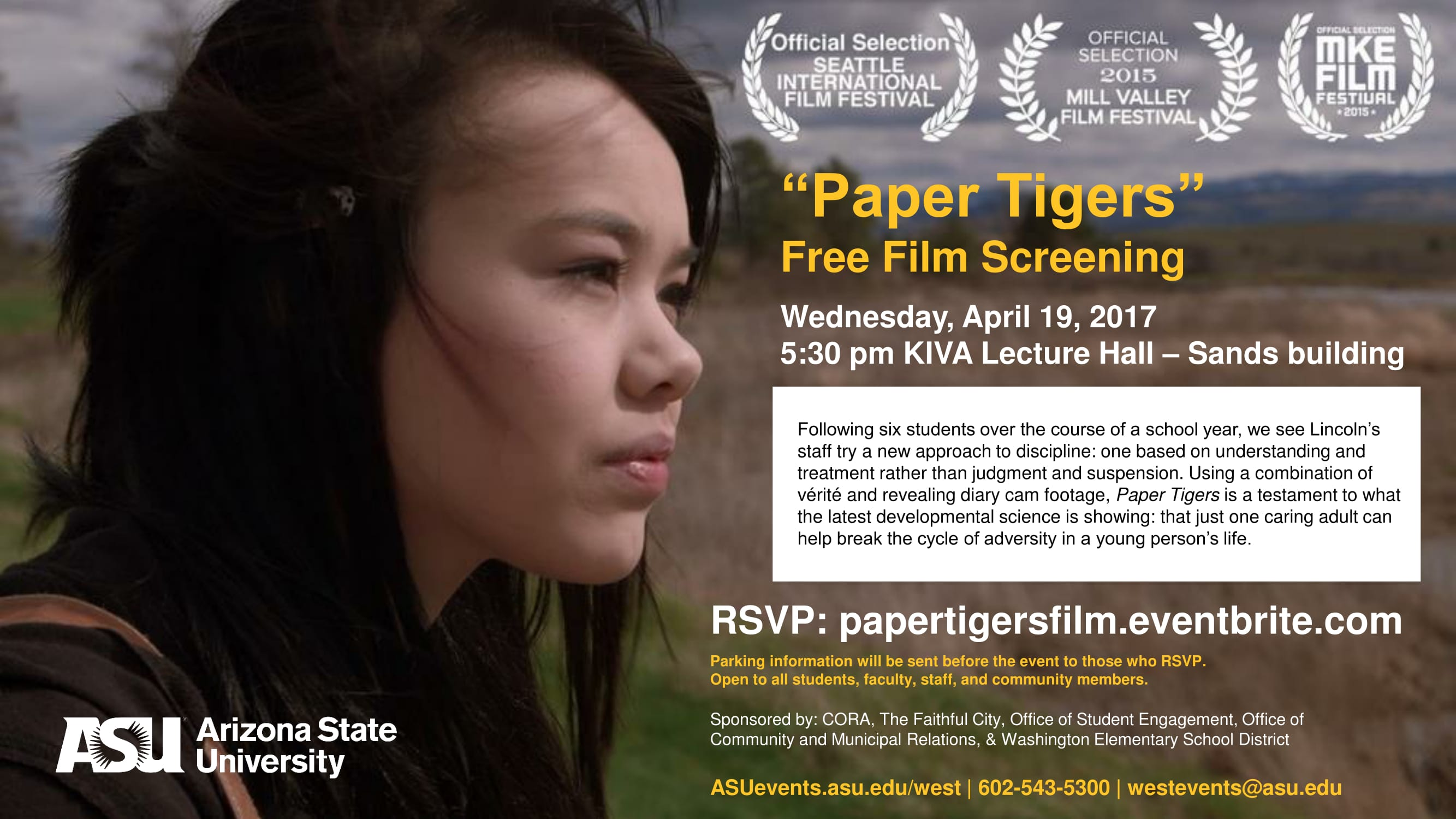 Come To The Paper Tigers Free Movie Screening On Any Of ASU's Four Campuses