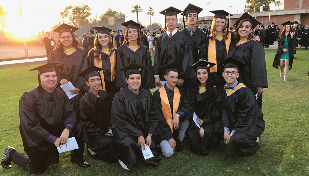 Proud Morenci High Students Receiving Their Associate Degrees From Eastern Arizona College. Bottom Row: Jose Cazares, Gabriel Castillo, Jordan Ortega, Marco Rojas, Shelby Aguallo And Marcus Aguallo. Top Row: Marissa Webb, Merissa Mendoza, Aaliyah Manuz, James Williams, Myles Miranda, Madelyn Olmstead And Elyssa Vigil. Not Pictured: McKayen Johnson And Alyssa Garcia. Photo Courtesy Of Morenci High School
