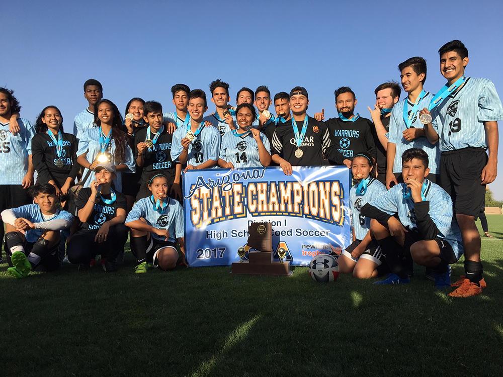 "Western School Of Science And Technology: A Challenge Foundation Academy (""Western: CFA"") Is Proud To Announce That Its Varsity Soccer Team Won The Canyon Athletic Association State Championship This Past Saturday, May 6, 2017. Photo Courtesy Western CFA"