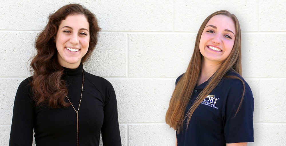 Williams Field High School Senior Alexa Lemke And Junior Erin Alibrandi Are Transforming Student Leadership Through Clubs Inspired By Hugh O'Brian Youth Leadership's Effective And Compassionate Leadership Vision. Photo Courtesy Higley Unified School District