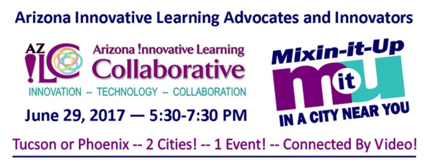 Collaborate with the Greater Arizona eLearning Association on June 29 in Tucson or Phoenix CollaboativeLearningSaveTheDate