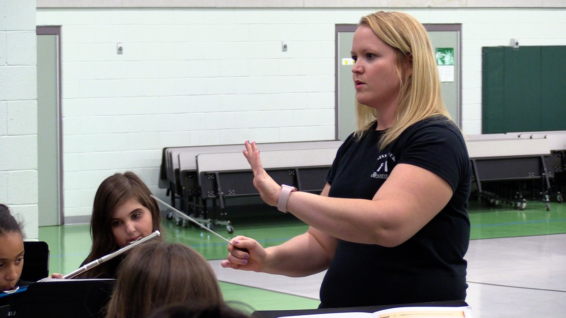 Buckeye Elementary School District Band Director Amber Shupe Works With Students During Band Camp. Photo Courtesy Buckeye Elementary School District