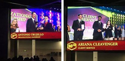 San Tan Foothills High School Future Business Leaders Of America Chapter President, Tony Trujillo Took 4th Place In Organizational Leadership. State Officer, Vice President Of Community Service, Ariana Cleavenger Placed 10th In Client Service. Photos Courtesy Florence Unified School District