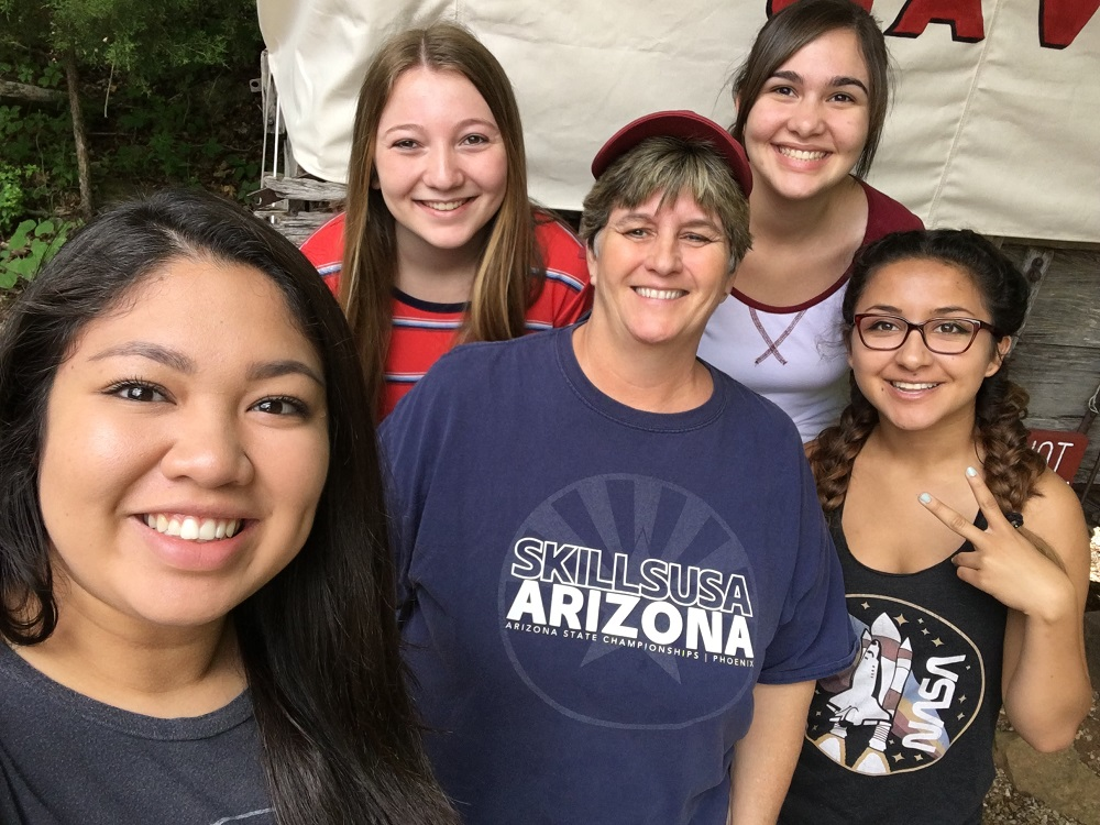 Perry High School Students And Their Teacher Caryn Butler Attend The SkillsUSA National Conference. Photo Courtesy Of Chandler Unified School District