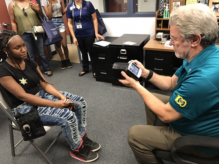 Buckeye Elementary School District Governing Board Member Richard Hopkins Provides ID Photos For The Super Heroes Learning Cause Program On July 22, 2017. Photo Courtesy Buckeye Elementary School District