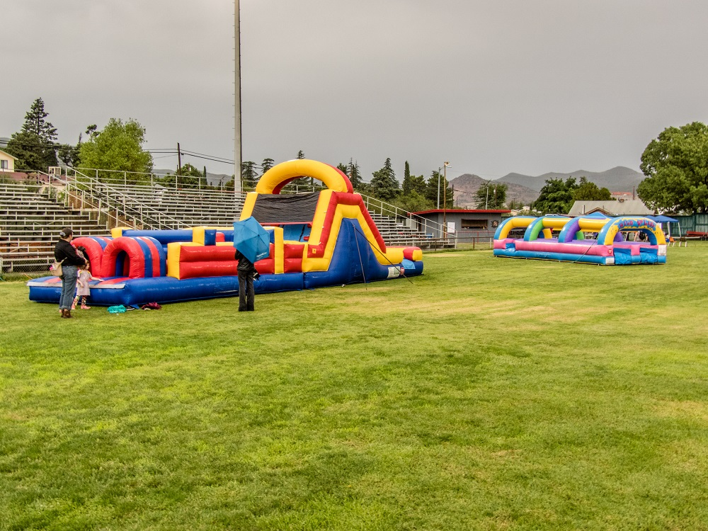 Bounce houses at Bisbee Unified's Rock Our Schools Event. Photo courtesy A Tom Nelson Photo. More at https://atomnelsonphoto.shootproof.com/gallery/ros/