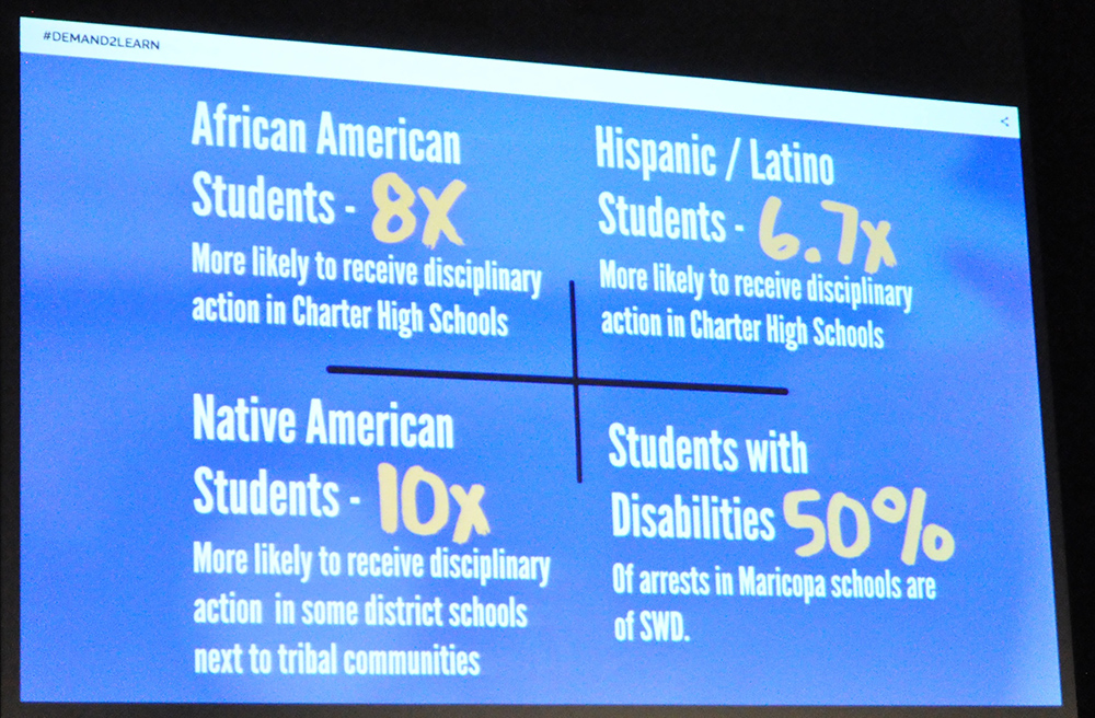 Some of the data collected by the American Civil Liberties Union of Arizona for the Demand2Learn initiative. Photo by Lisa Irish/AZEdNews