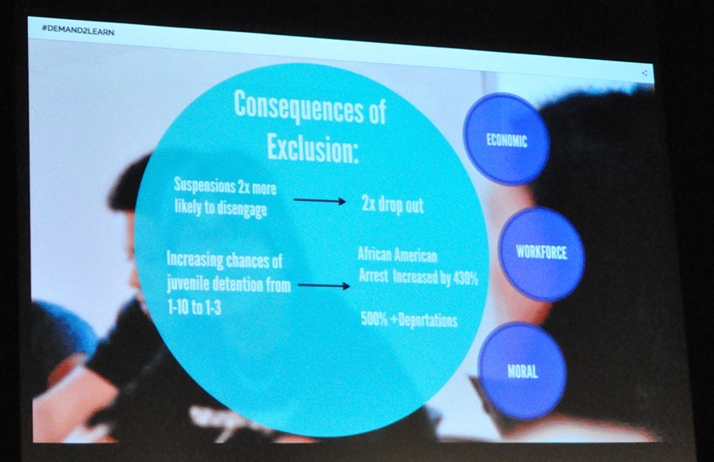 Some of the consequences of exclusion from the Demand2Learn launch. Photo by Lisa Irish/AZEdNews
