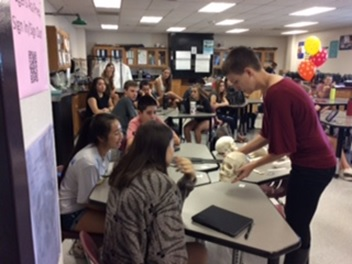Nora Wells, Research Assistant, Midwestern University Shared Her Professional Knowledge As A Forensic Anthropologist To Introduce Students In PLTW Human Body Systems To The Field Of Forensic Anthropology. Photo Courtesy Of Deer Valley Unified School District