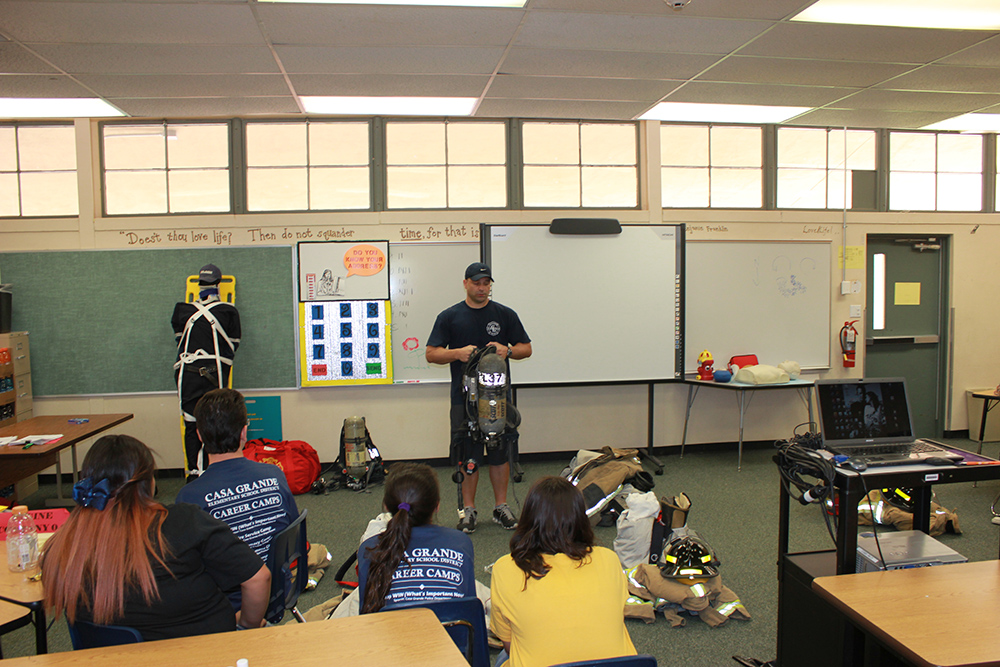 Arizona Business & Education Coalition's Career Camps at Casa Grande Elementary School District. Photo courtesy of ABEC