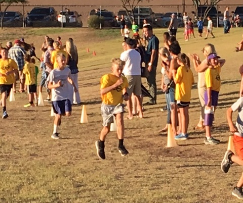 The First Of Two CCUSD All Elementary Cross Country Race Is In The Books! Congratulations To Abby S. (1st Place Girls) From Horseshoe Trails And Brighton J. (1st Place Boys) From Black Mountain. Photo Courtesy Of Cave Creek Unified School District