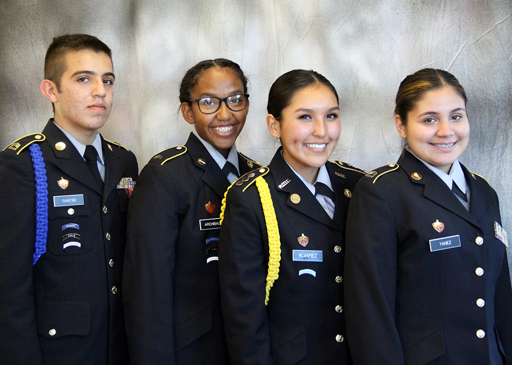 Four RRHS JROTC Cadets Receive JROTC Presidential Service Volunteer Awards