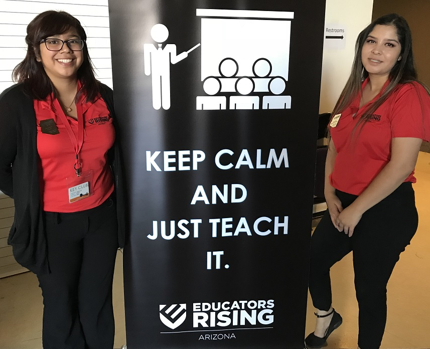 Educators Rising Arizona Fall Leadership Conference 2017 CarolinaMelendezAnd-JosefinaLeon2