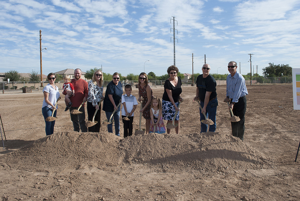 David Glasser's Family Breaks Ground On Laveen's David Glasser Athletic Complex Photo Courtesy Of Laveen School District