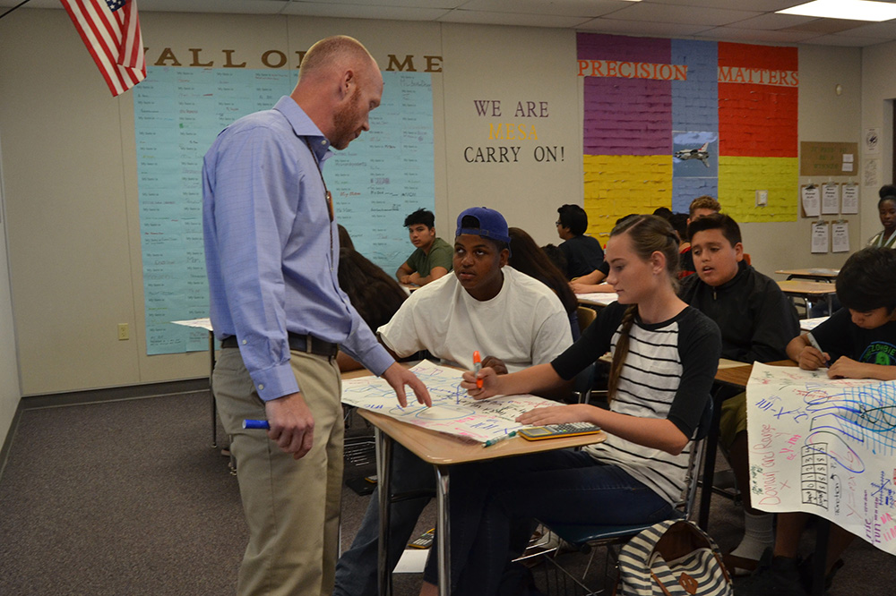 Matthew Nelson, Math Teacher At Mesa High School, Is A Teach For America Corps Member Benefiting From APS Foundation Support. Photo Courtesy Of Teach For America