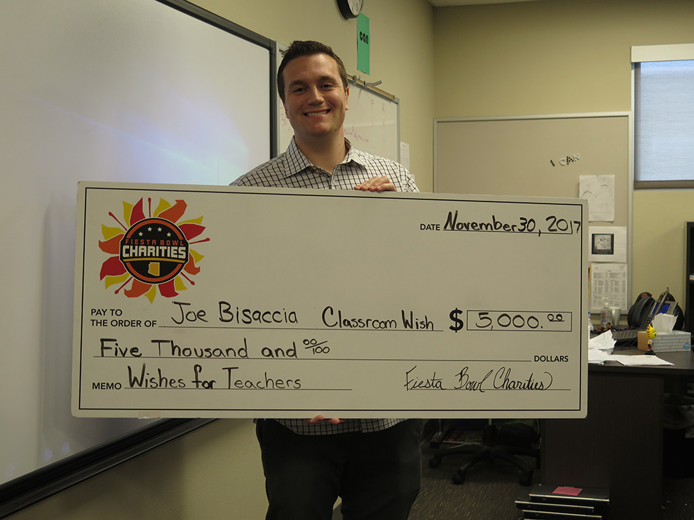 Fiesta Bowl grants $5K wishes to two Higley teachers IMG_2708