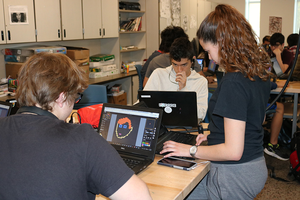 Students At Phoenix Coding Academy Work On An Assignment. Photo Courtesy Phoenix Union High School District