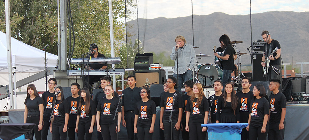 Members Of The Trevor G. Browne High School's Choir Provided Backup Vocals For Lou Gramm's Performance At A Corporate Event For A National Accounting Firm At Corona Ranch, November 15. Photo Courtesy Of Phoenix Union High School District