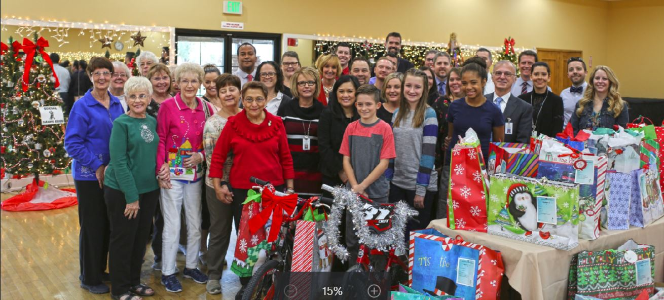 Higley Staff Join Trilogy Residents And Staff For A Reception Where The Schools Received More Than 100 Gifts Donated To Children In Need This Holiday Season. Photo Courtesy Of Higley Unified School District
