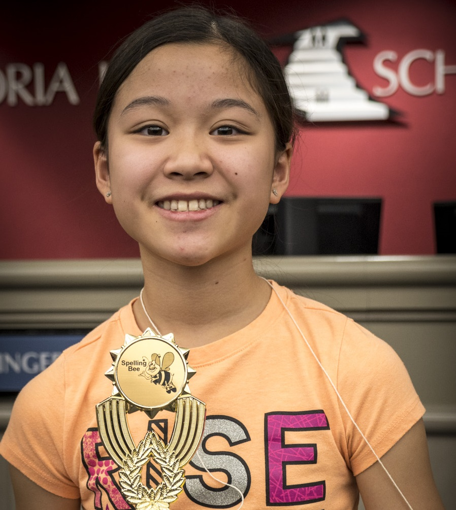 Peoria Unified School District Spelling Bee Winner Annabelle Tran. Photo Courtesy Peoria Unified School District