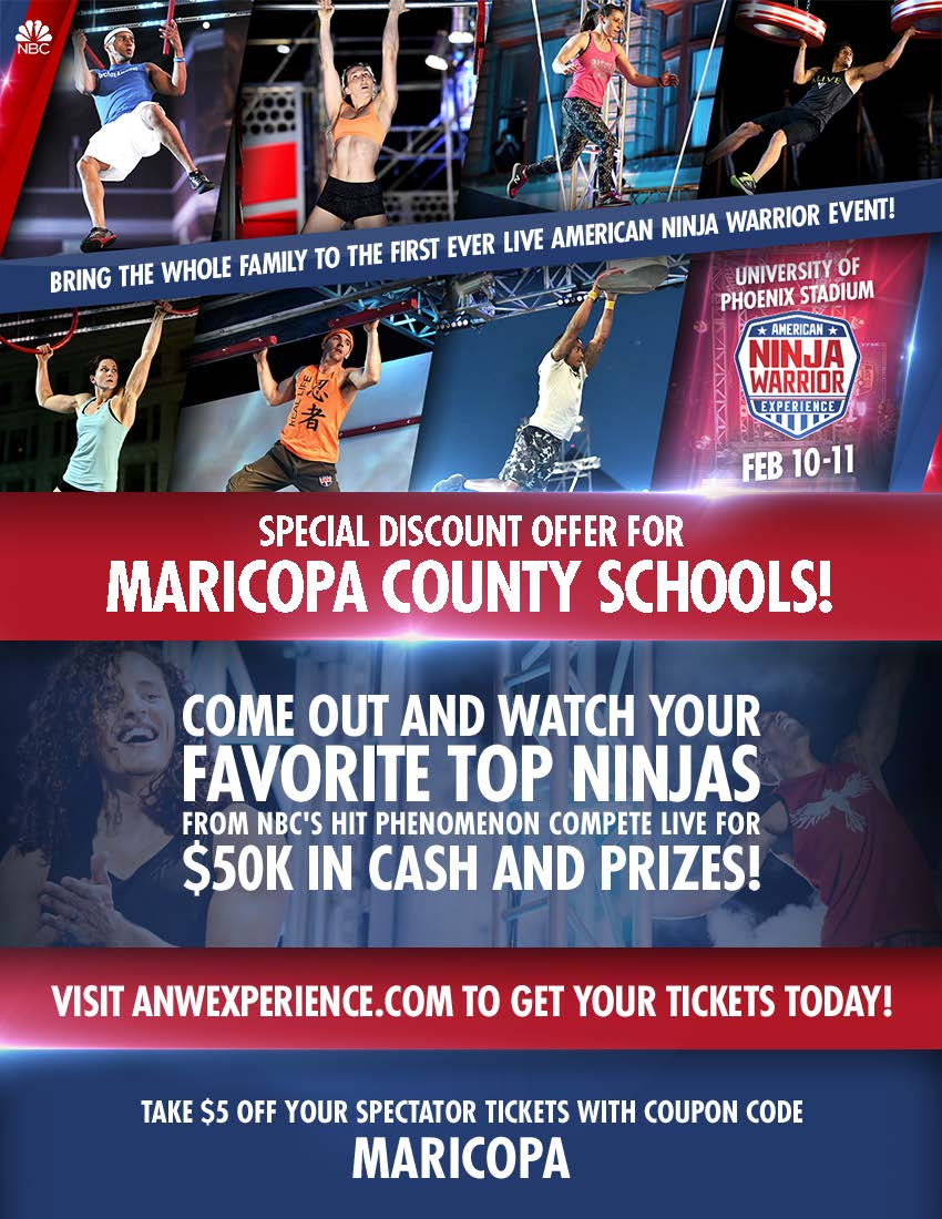 'American Ninja Warrior Experience' cancels Glendale event AN017_CouponCodeFlyer_Maricopa