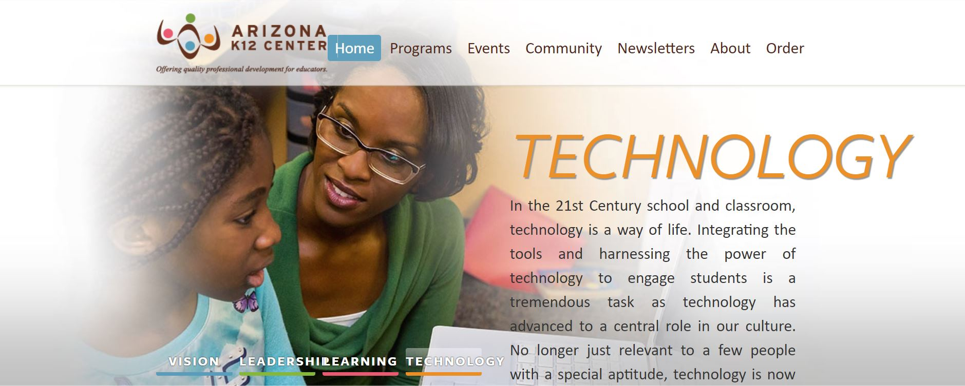 AZ K12 Center Web Page Image