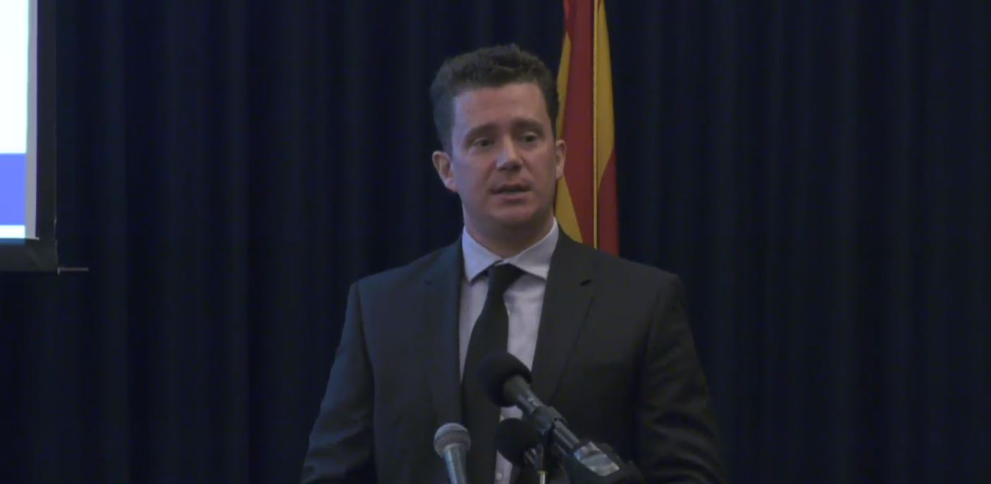 Charlie Martin, Senior Budget & Operations Analyst Who Covers K-12 Education, Said The Governor's Budget Proposal Prioritizes K-12 Education With Over 80 Percent Of New Discretionary Spending Dedicated To K-12. Photo Courtesy Arizona Capitol Television