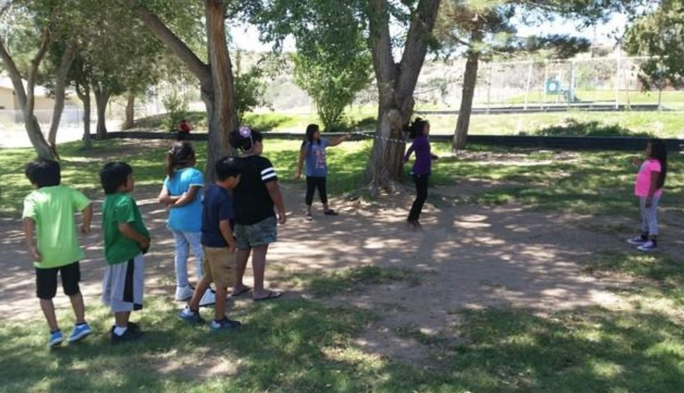 Students Playing Outside At Peach Springs Elementary School In Northern Arizona. Photo Courtesy Of Peach Springs Elementary School