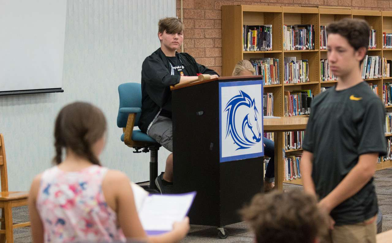 Students In Larry Johnson's American Studies Class At Shepherd Junior High School Practice To Participate In Maricopa County's Teen Court Program. Photo By Tim Hacker/Mesa Public Schools