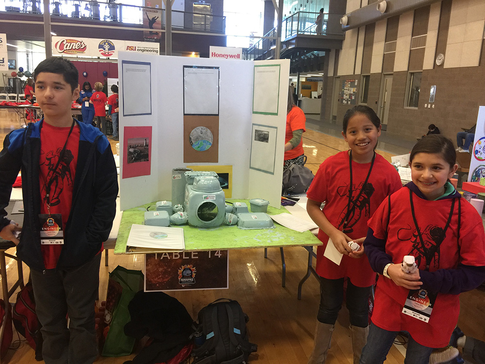 In January Seven 6th And 7th Grade Students From Sinagua Middle School Competed In The 2018 Honeywell Fiesta Bowl Aerospace Competition In Phoenix. Photo Courtesy Flagstaff Unified School District