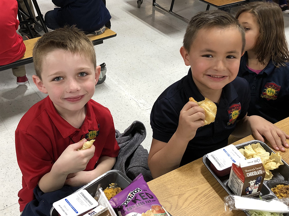 Desert Sun Academy, A French Immersion School In Cave Creek Unified School District, Celebrated National Croissant Day During Lunch By Encouraging Its Kinder Through 6th Grade Students To Try Something New. Photo Courtesy Of Cave Creek Unified School District