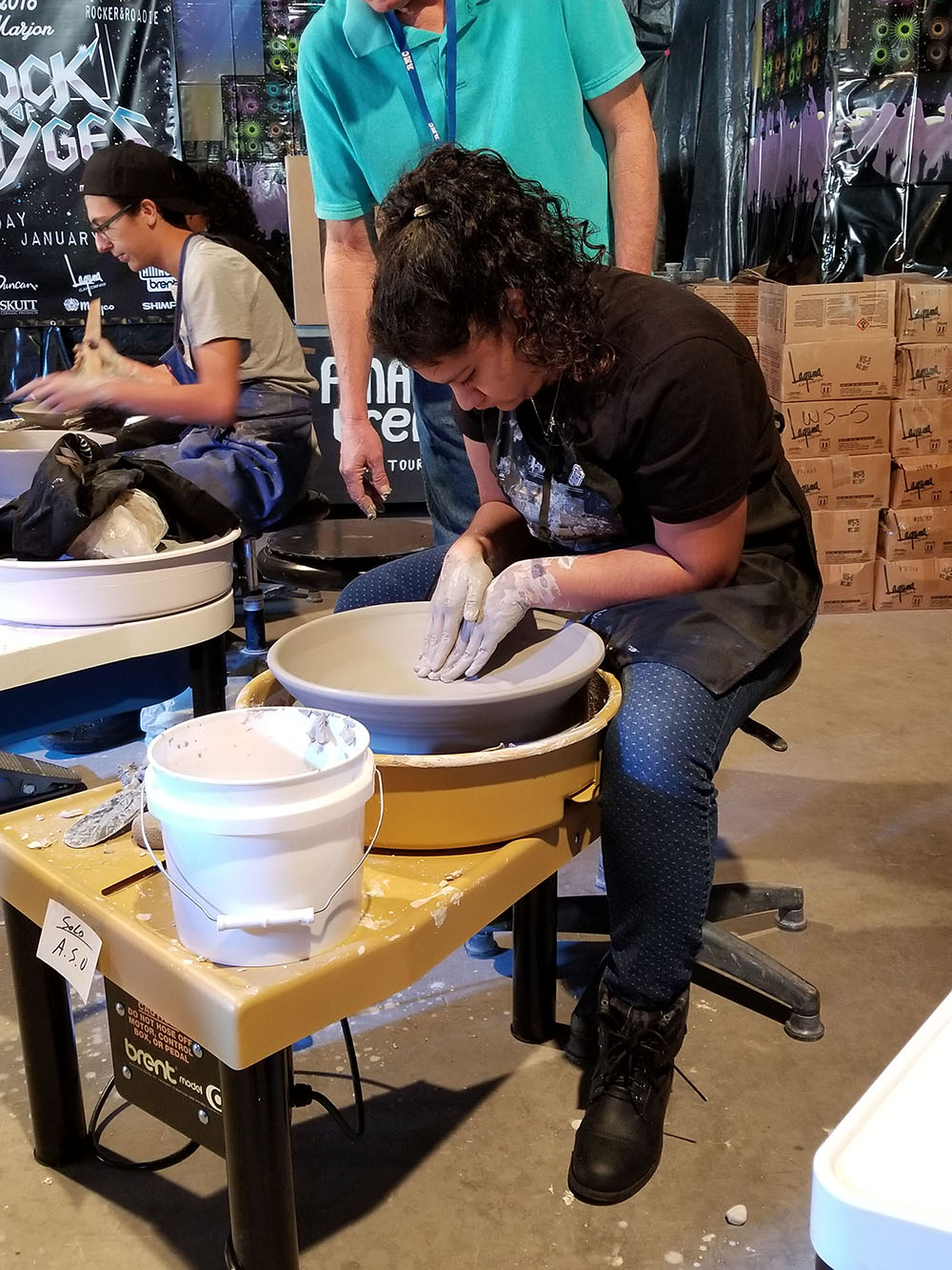 Maryvale Has A New Potter's Wheel For Their Ceramics Classes, And They Can Thank Senior Esmeralda Sanchez For It. Photo Courtesy Phoenix Union High School District