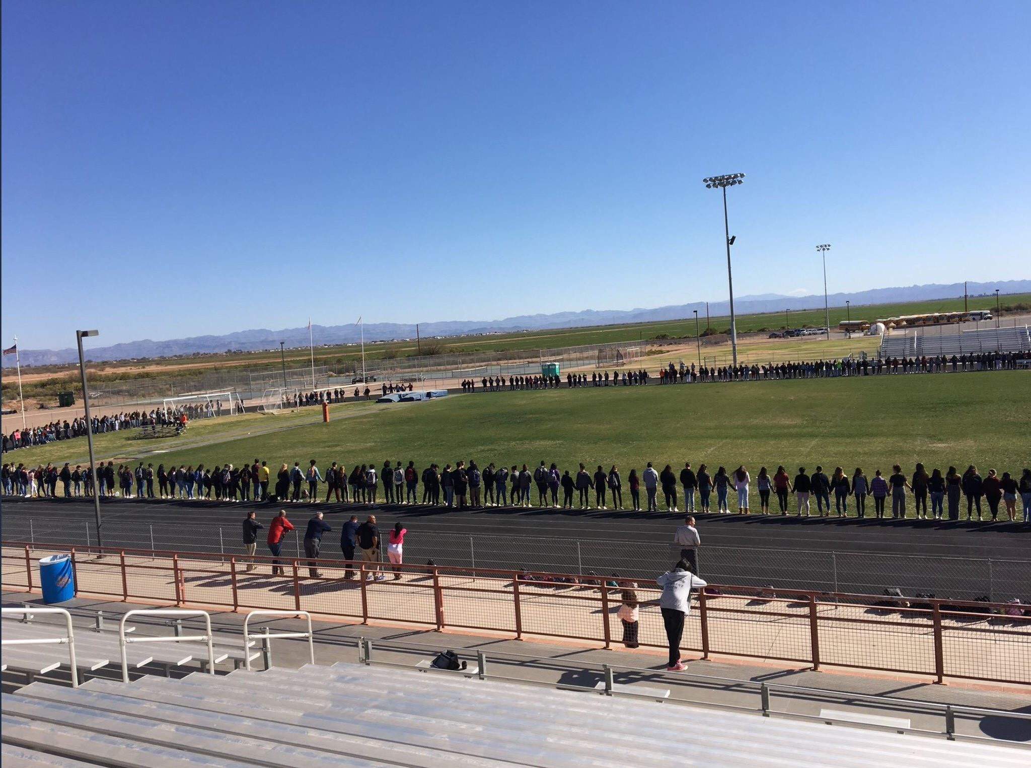 Nearly 650 Students Took Part In An Observance To Honor Those Killed In A Florida School Shooting On Wednesday, Feb. 21 At Poston Butte High School In San Tan Valley, Arizona. Photos Courtesy Florence Unified School District