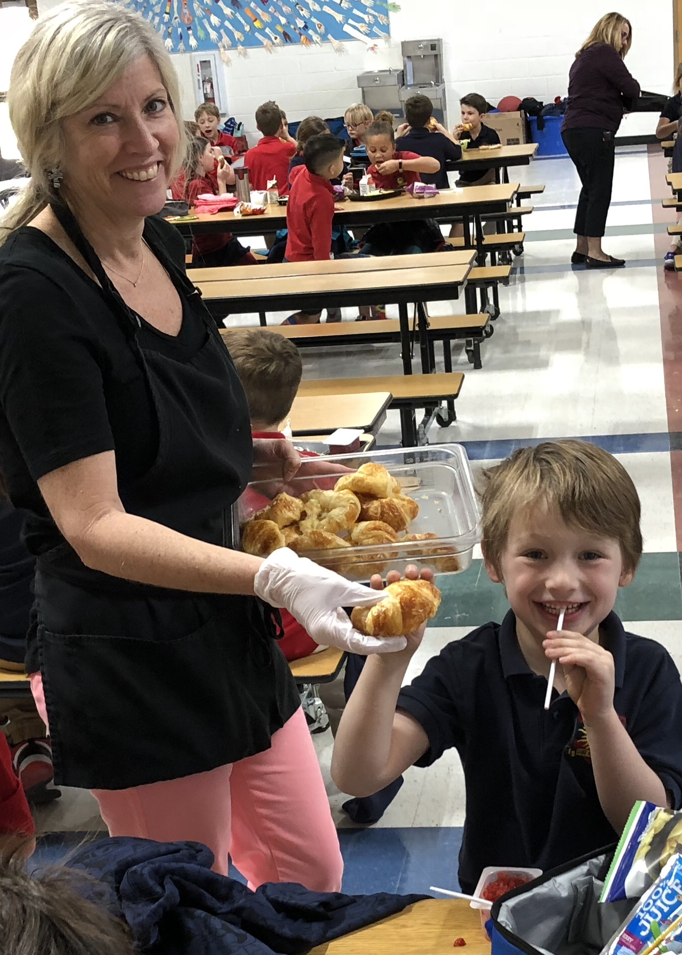 Students celebrate National Croissant Day at French immersion school croissant-day3