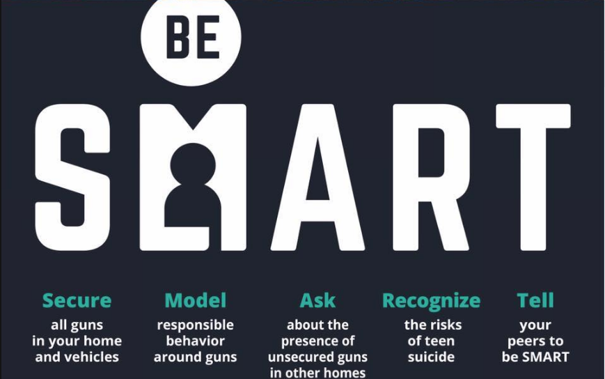 An Infographic Illustrating The Be SMART Steps For Gun Safety And Safe Gun Storage. Infographic By Be SMART
