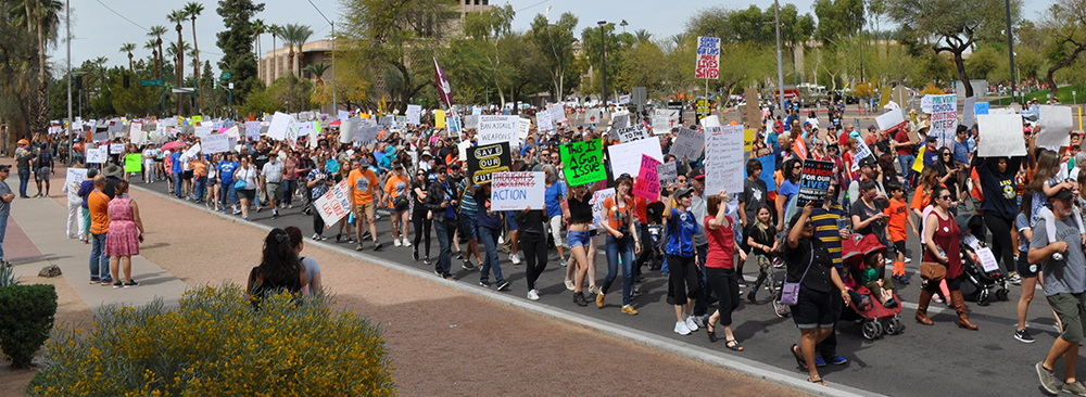 Thousands take part in March for Our Lives to protest gun violence MarchToSaveOurLivesHP1