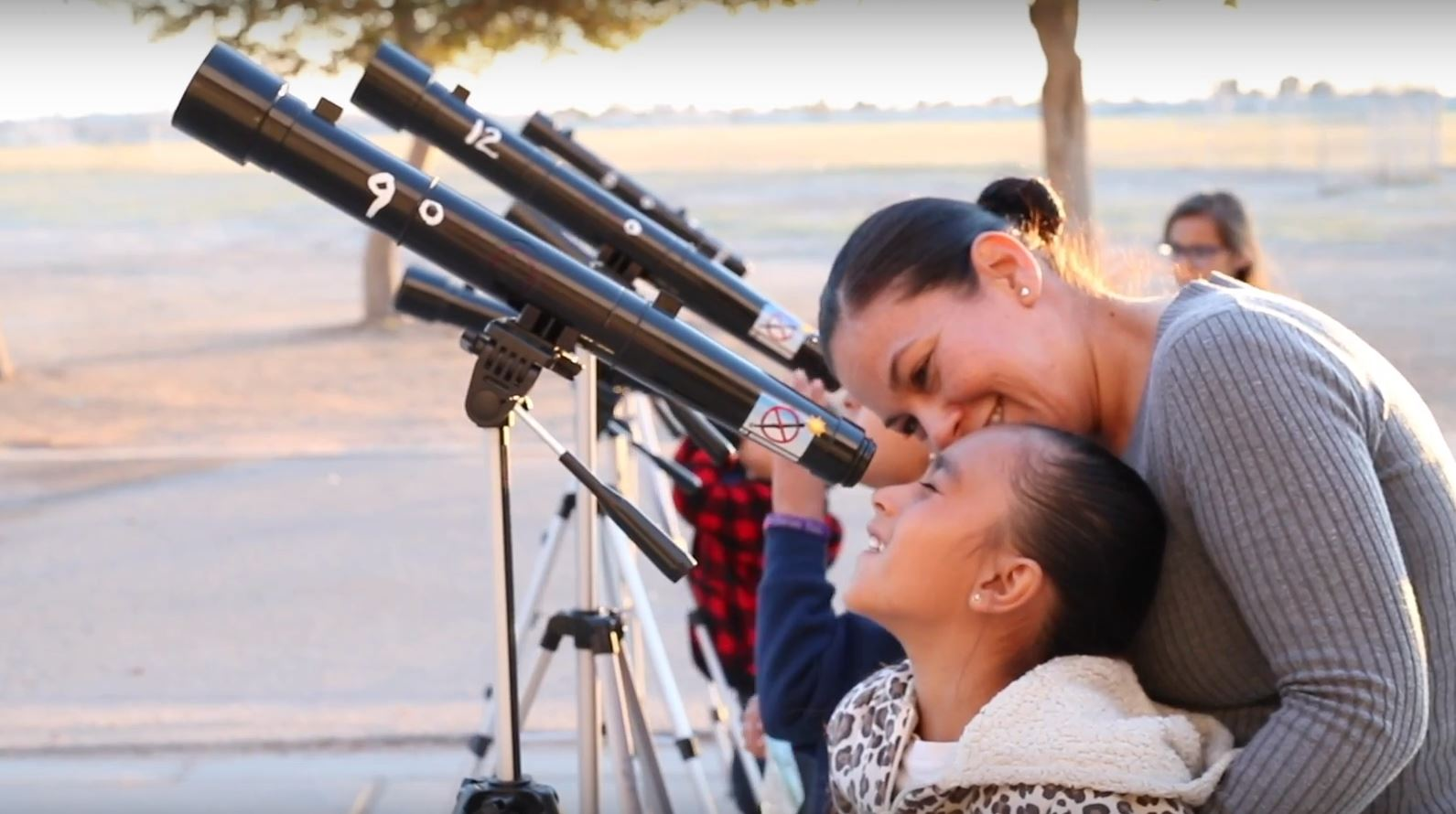 Sunrise Elementary Students, Parents, And Staff Were Invited To Use These Telescopes To See The Moon And Stars Like They Have Never Seen. Photo Courtesy Yuma School District One