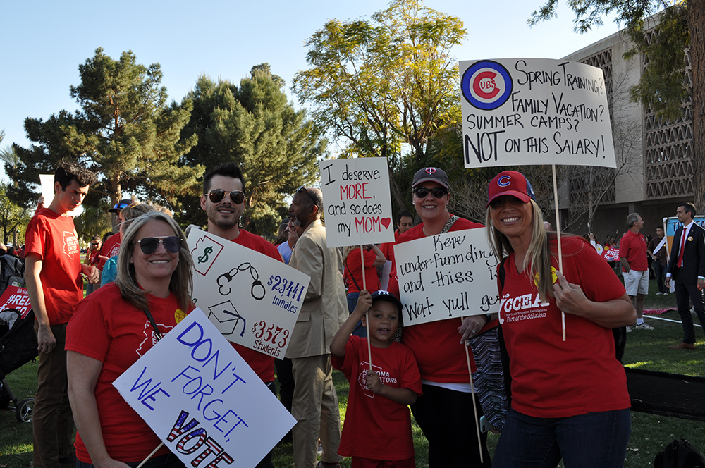 Teachers, Students, And Education Supporters Take Part In #RedForEd's Arizona's Day Of Action For Education At The State Capitol In Phoenix. Photo By Lisa Irish/AZEdNews