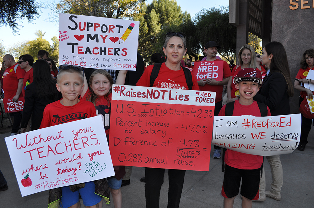 Teachers protest, walk-out and walk-in across nation as education funding movement gains traction Teachers26