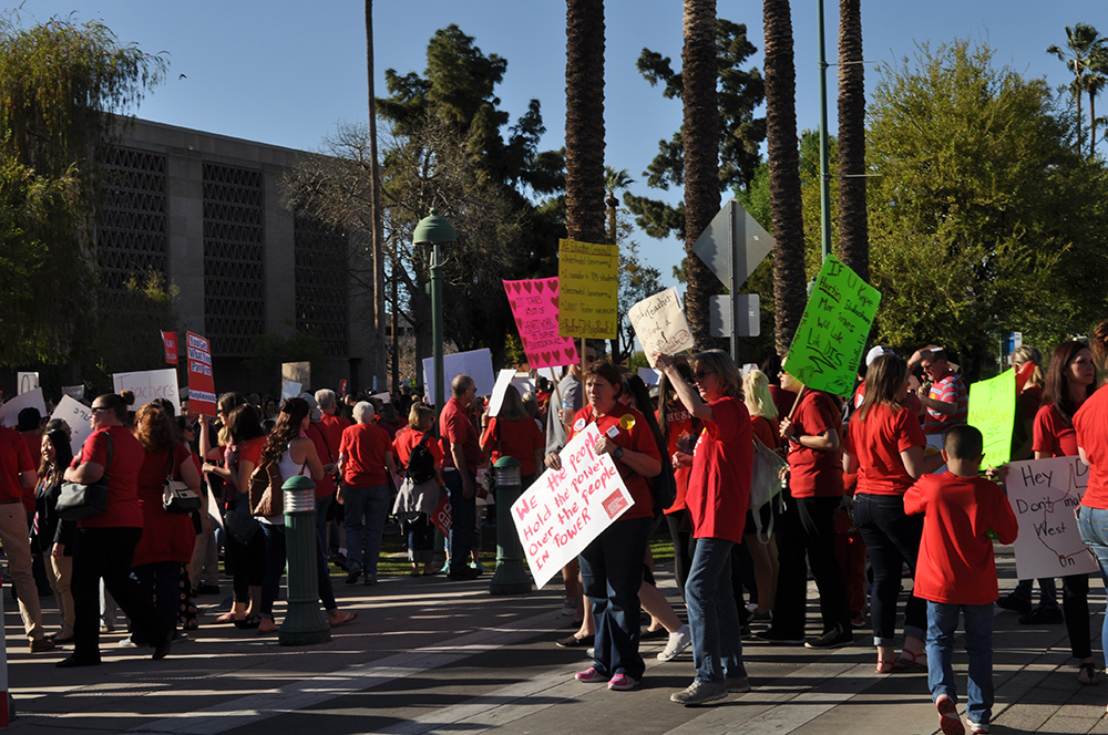 Education Advocates At Arizona's Day Of Action For Education. Photos By Lisa Irish/AZEdNews