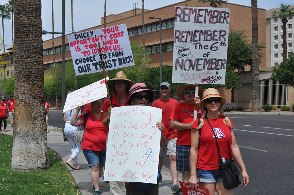 Teachers rally, meet with legislators and attend hearings during budget process 3day1