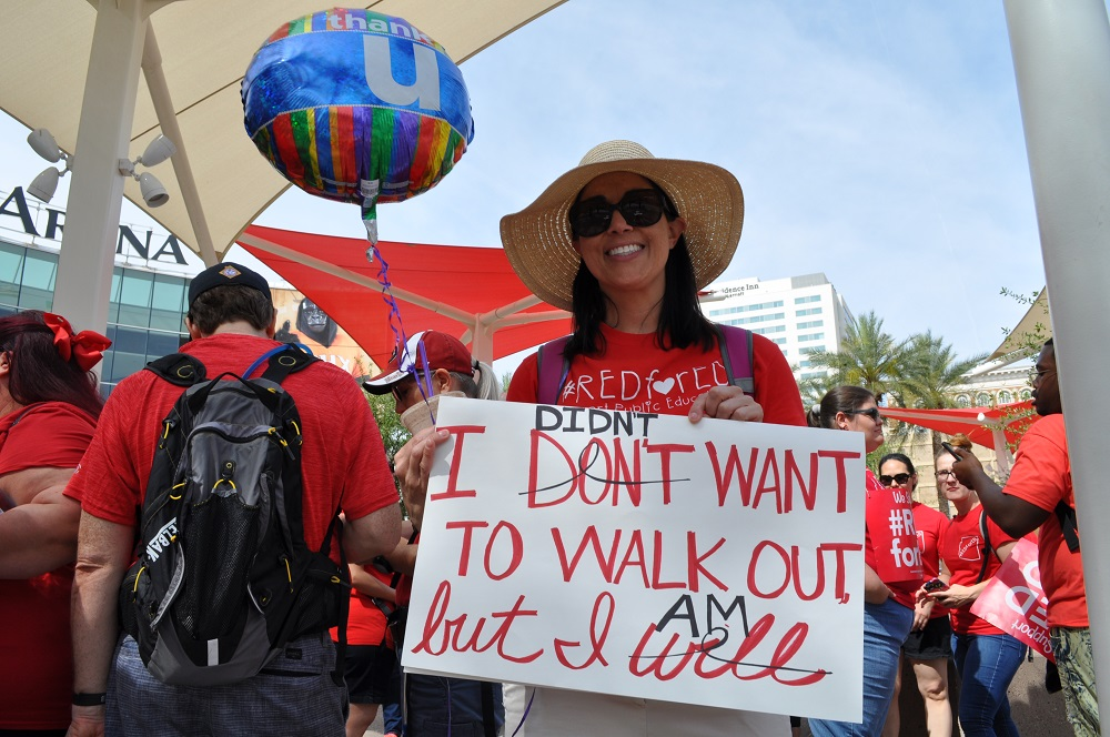 More than 50,000 teachers walk-out to protest low pay, funding ReadingSpecialist