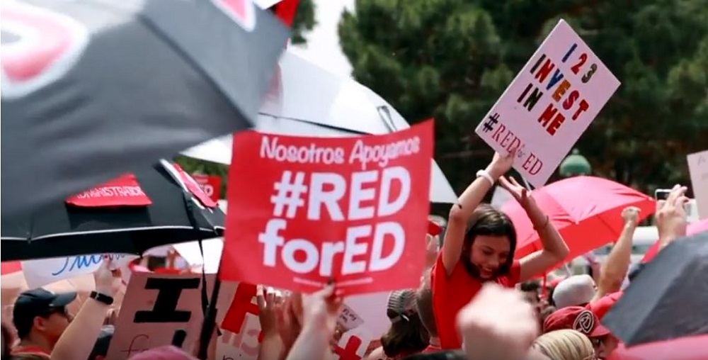 Participants At The #RedForEd March And Rally In Phoenix On April 26, 2018, Photo By Brooke Razo/AZEdNews