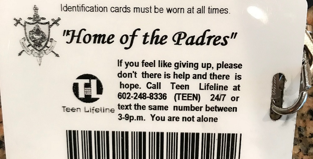 Some Schools Provide Contact Information For Mental Health And Suicide Prevention Resources On The Back Of Students' School ID Cards.