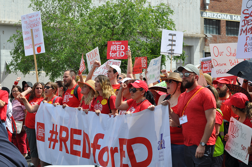 The #RedForEd March And Rally In Phoenix On April 26, 2018. Photo By Lisa Irish/AZEdNews