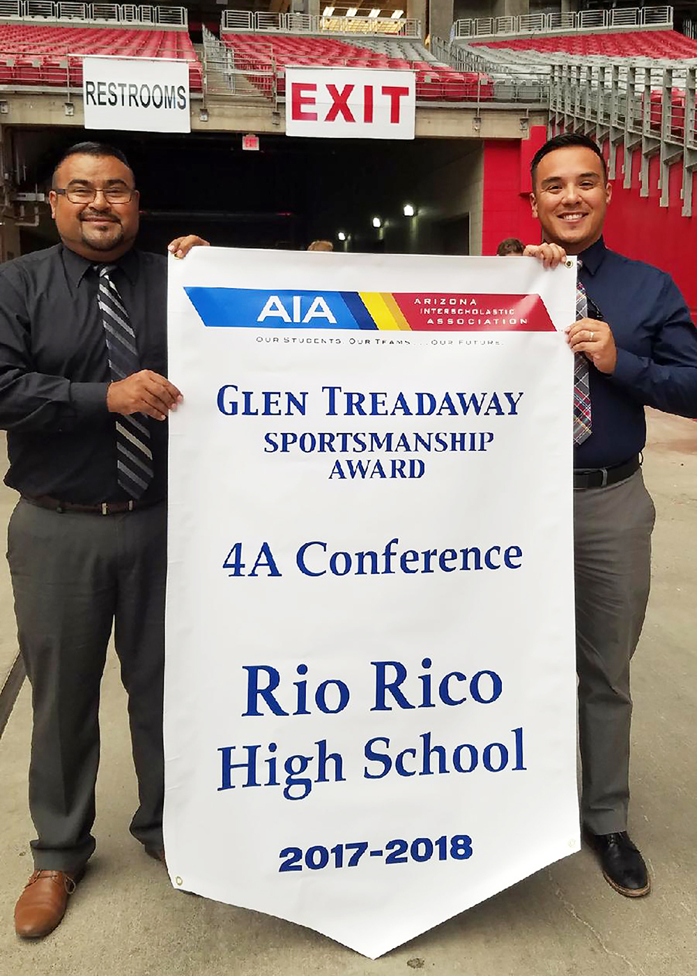 Rio Rico High School awarded AIA 4A Glen Treadaway Sportsmanship Award 1_RRHS-AIA-Sportsmanship-Award_7057_20180521