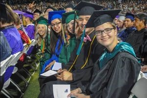 Over 1,400 Of Our Program Completers Participated In This Year's Completion Ceremony At Tempe Diablo Stadium -- And Stadium Officials Estimated A Record Standing-room-only Crowd Of 12,000 Filled The Stands And The Berms. Photo Courtesy East Valley Institute Of Technology