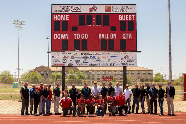 On May 24th, The Arizona Mining Association And Florence Copper Unveiled The Brand New Scoreboard Donated To Florence High School. Photo Courtesy Florence Unified School District