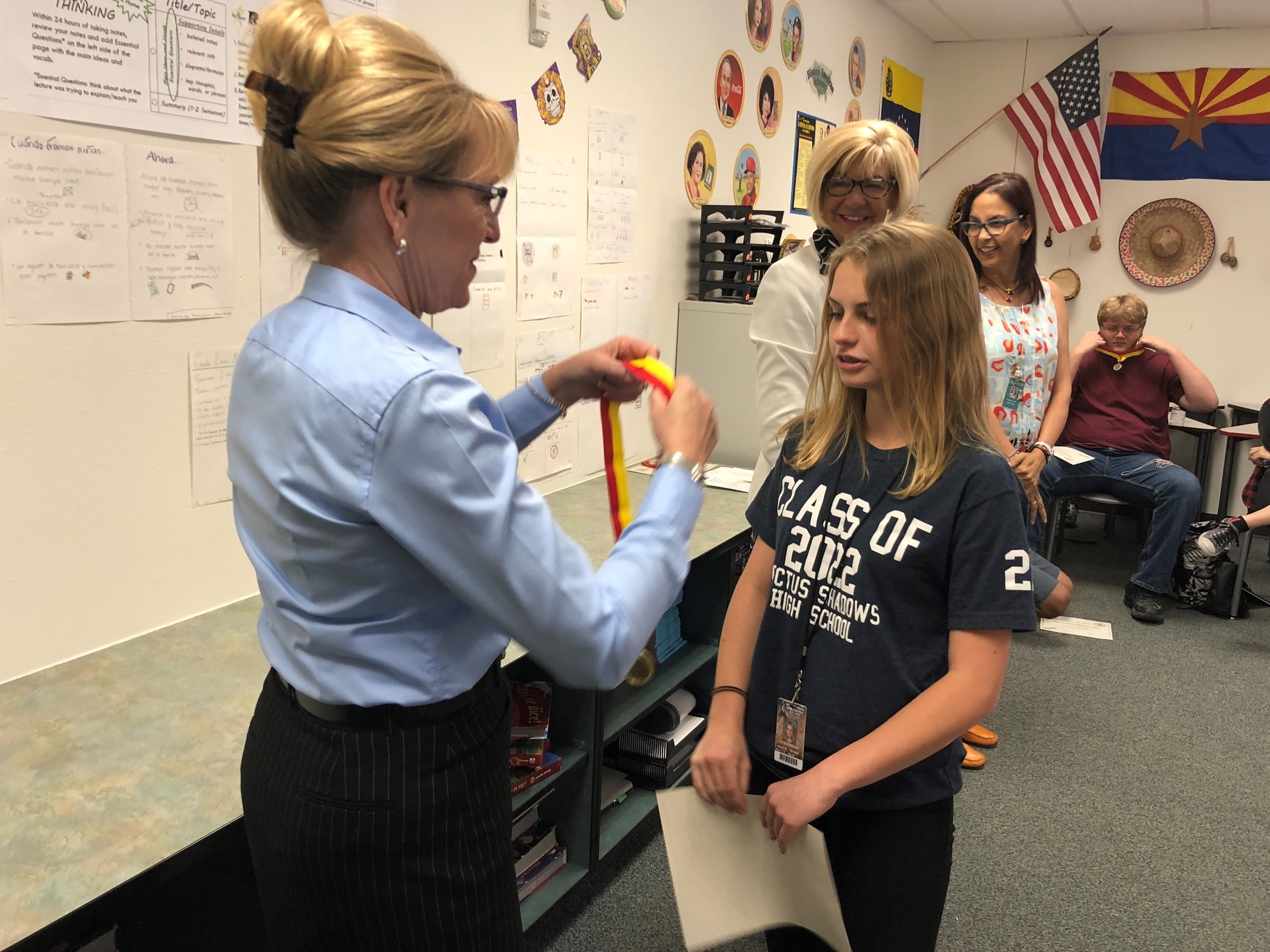 Sonoran Trails Middle School 8th-graders earn honors on 2018 National Spanish Exam JRM