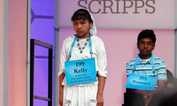 Kelly Haven Waits To Compete During The 2017 Scripps National Spelling Bee. She Also Qualified For The 2018 Competition. (AP Photo/Jacquelyn Martin)